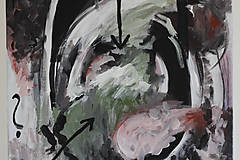 Obrazy - mother's womb . akryl na plátne . abstraktná maľba - 13506933_