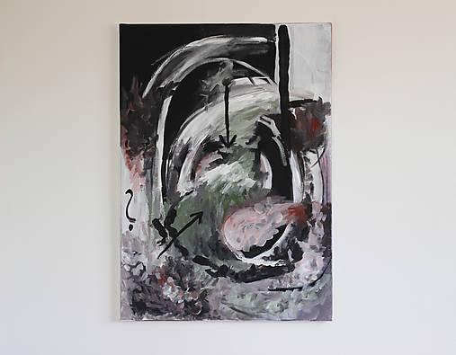 mother's womb . akryl na plátne . abstraktná maľba