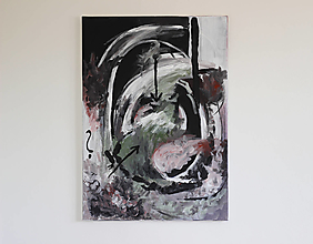 Obrazy - mother's womb . akryl na plátne . abstraktná maľba - 13506945_