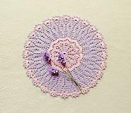 Úžitkový textil - Háčkovaná dečka Kvietok - 13506682_