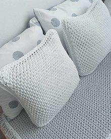 Úžitkový textil - Vankúš Nordic Day biely - 13505824_