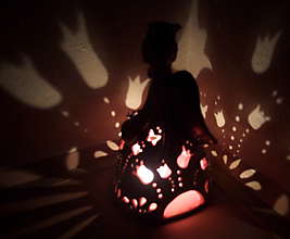 """Svietidlá a sviečky - """"Tulipánka"""" - anjelská aromalampa - 13506353_"""