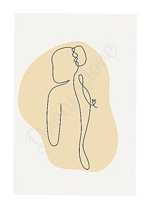 "Grafika - Ilustrácia ""Abstract Girl"" - 13506907_"