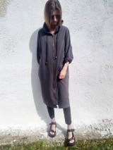 Kabáty - ANTRACIT, jarný pláštik. - 13507195_