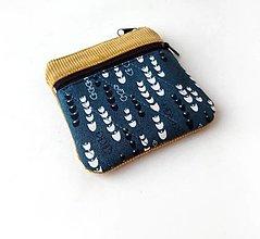 Taštičky - Taštička s kapsičkou Zvončeky na modrej - 13507078_