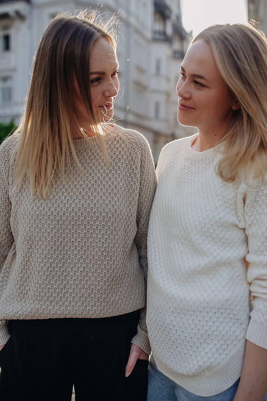 Obojstranny sveter MADEIRA biely