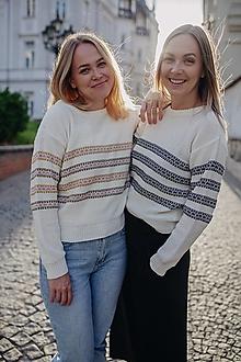 Svetre/Pulóvre - Pruhovaný sveter THAYA - 13505681_