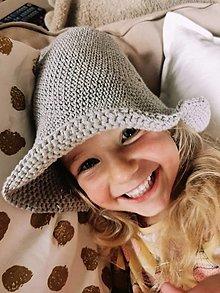 Detské čiapky - Ľanový klobúčik detský - 13507385_