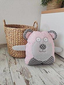 Hračky - Macík ružovo sivý - 13505928_