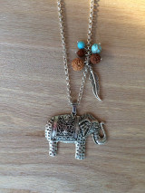Náhrdelníky - náhrdelník slon - 13507215_