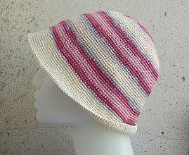 Čiapky - farebný háčkovaný klobúčik - 13509195_