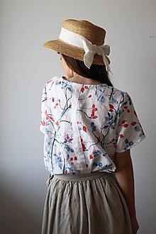 Topy, tričká, tielka - Akvarelové, ľanové tričko - 13508430_