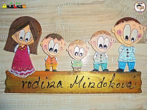 Tabuľky - Menovka - rodinka - 13508019_