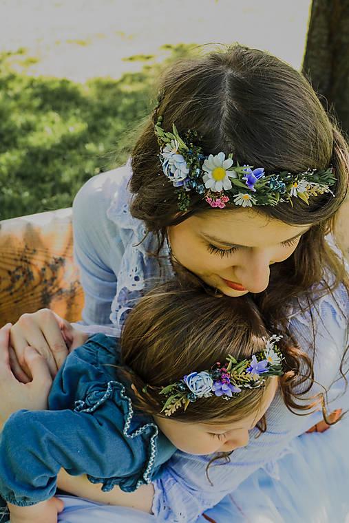 """Set venčekov mama/dcéra """"rosa na lúčnych kvetoch"""""""