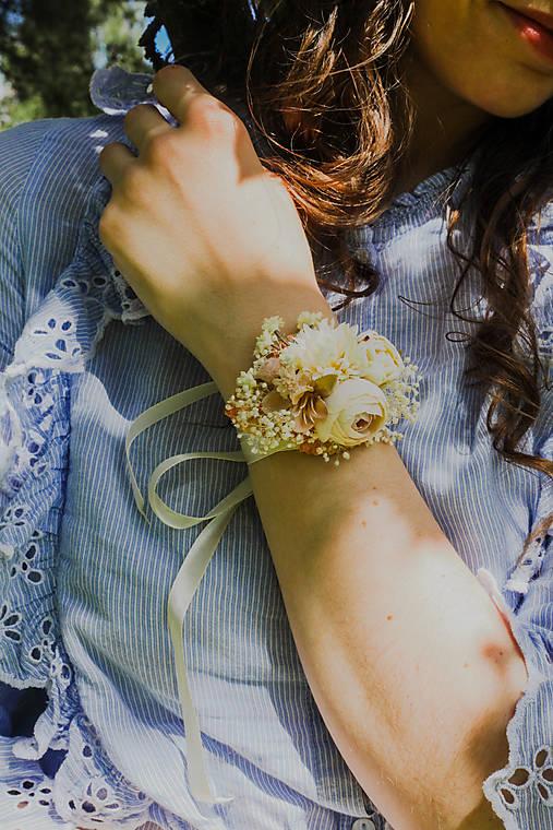 """Kvetinový náramok """"chvíle, keď šepkám ti"""""""