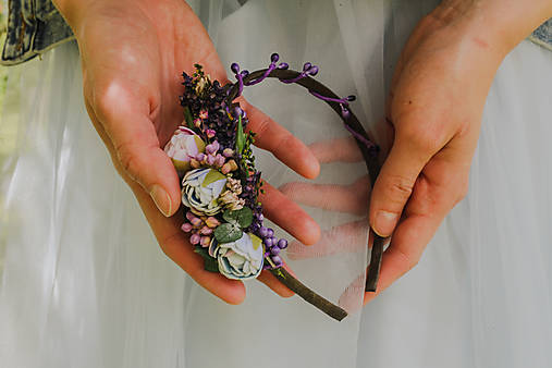 """Kvetinová čelenka """"stmievanie v pivonkách"""""""