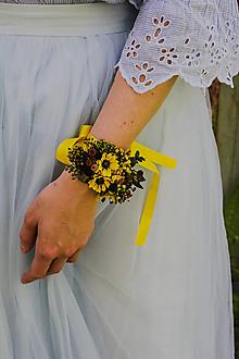 """Náramky - Kvetinový náramok """"pole slnečníc"""" - 13509652_"""