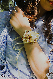 """Náramky - Kvetinový náramok """"chvíle, keď šepkám ti"""" - 13509669_"""
