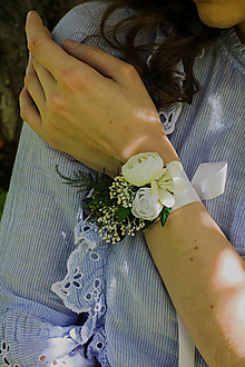 """Náramky - Kvetinový náramok """"svitanie v papradí"""" - 13509710_"""