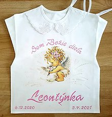Detské oblečenie - Košieľka na krst - 13508046_