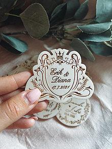 Darčeky pre svadobčanov - Magnetky pre svadobných hostí erb - 13510658_