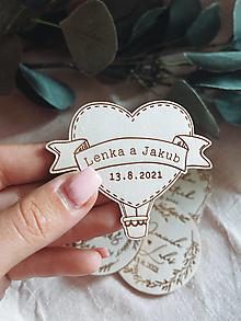 Darčeky pre svadobčanov - Magnetky pre svadobných hostí balónik - 13510710_
