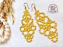 Náušnice - Zlaté čipkované náušnice - 13510789_