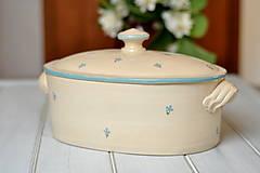 Nádoby - Forma na pečenie chleba- Nezábudky - 13510299_