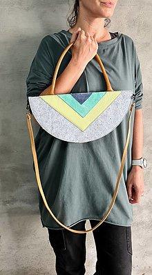Kabelky - SurfSet azuro koženo filcová kabelka - 13511417_