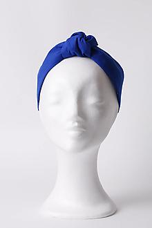 Ozdoby do vlasov - Čelenka kráľovská modrá - 13514263_