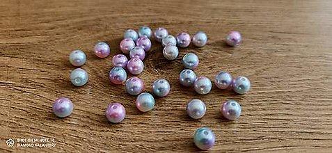 Korálky - Perličky 10 mm (10 mm - Pestrofarebná ružová) - 13512546_