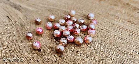 Korálky - Perličky 10 mm (Ružovo hnedá) - 13512547_