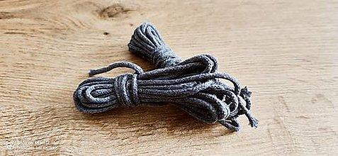 Galantéria - Dekoračný špagát - 4 mm - balenie 4,6 metra (Tmavo šedý) - 13512905_