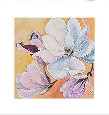 Obrazy - Magnólia, 50 x 50 cm, akryl - 13513512_