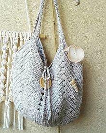 Veľké tašky - Summer Bag ...svetloseda - 13513989_