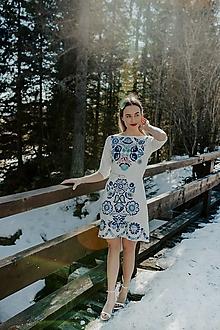 Šaty - krátke vyšívané šaty Očovianka - 13512591_