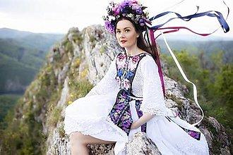 Šaty - vyšívané šaty Zámutovské kvety - 13512828_