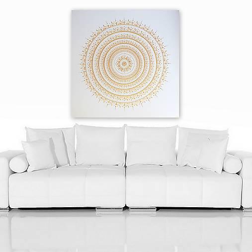 Minimalistická mandala ŠŤASTIE 100 x 100
