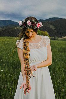"""Ozdoby do vlasov - Kvetinový venček """"srdce divoké"""" - 13512288_"""