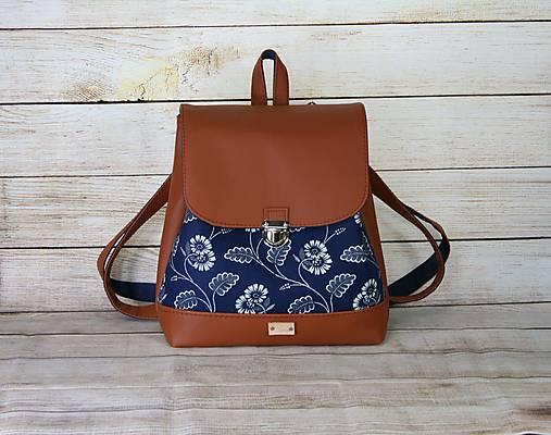 modrotlačový batoh Martin hnedý 7
