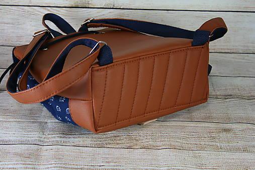 modrotlačový batoh Martin hnedý 8