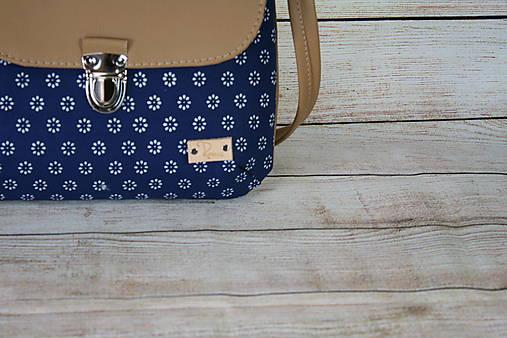 modrotlačová kabelka Ria béžová 7