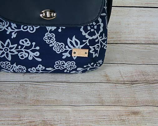 modrotlačová kabelka Ria tmavomodrá 5
