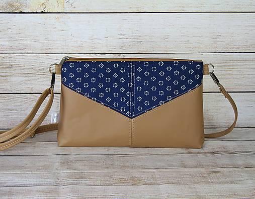 Modrotlačová kabelka Harlekín béžová 1