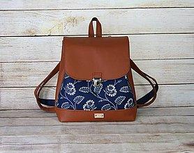 Batohy - modrotlačový batoh Martin hnedý 7 - 13514235_