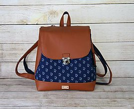 Batohy - modrotlačový batoh Martin hnedý 8 - 13514240_