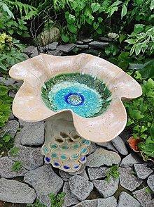 Sochy - Maková fontána (Priemer 50cm výška 50 cm - Ružová) - 13513674_
