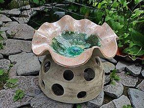 Sochy - Maková fontána (Priemer 38cm výška 29 cm - Ružová) - 13513679_