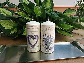 Svietidlá a sviečky - levanduľová sada 1 - 13513495_