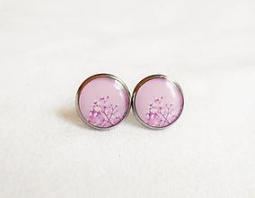 Náušnice - Živicové náušnice - Ružové pohladenie (chirur.oceľ) - 13515522_
